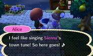 Alice Singing Another Town's Tune