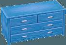 Light blue bureau