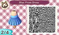 Blue Prom Dress 2/4