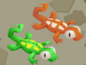 Den Gecko-Plushies Orange-Green-1
