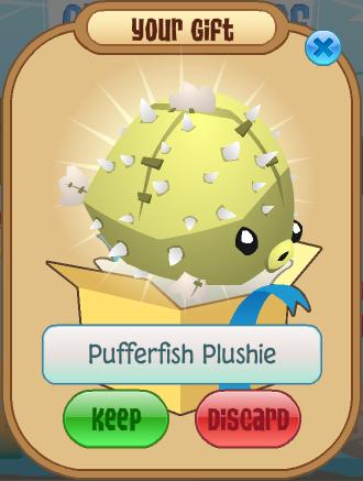 Pufferfish plushie animal jam wiki fandom powered by wikia for Puffer fish stuffed animal