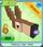 Pixelated deer head