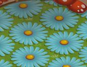 Mushroom-Hut Blue-Shag-Carpet