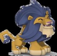Lion laughing