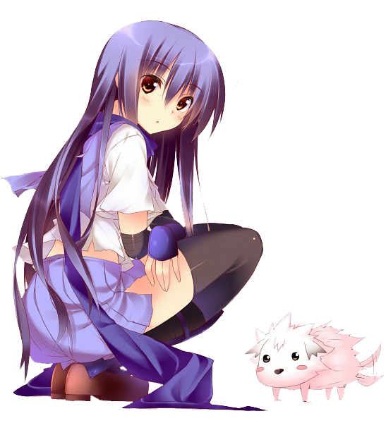 Download Anime Angel Beats: Shiina From Angel Beats Render By Shiinachan