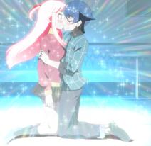 Tamotsu kisses Matome Stitched (Akiba Trip Ep 12)