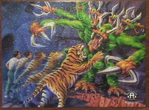 Jake tiger visser three jigsaw puzzle put together