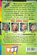 Animorphs 28 the experiment La manipulation french back cover