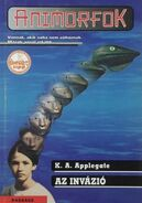 Animorphs 1 the invasion Az invázió hungarian cover