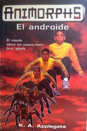 Animorphs 10 the android El androide spanish cover Ediciones B