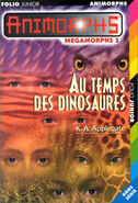 Mm2 megamorphs 2 time of dinosaurs au temps des dinosaures french cover