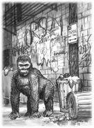 Animorphs the predator book 5 inside cover david mattingly original sketch