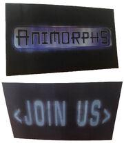 Both views Animorphs Join Us hologram card from calendar blank bkg