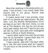 Cassie animorphs alliance handbook bio