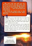 Animorphs 30 the reunion back cover scholastic edition