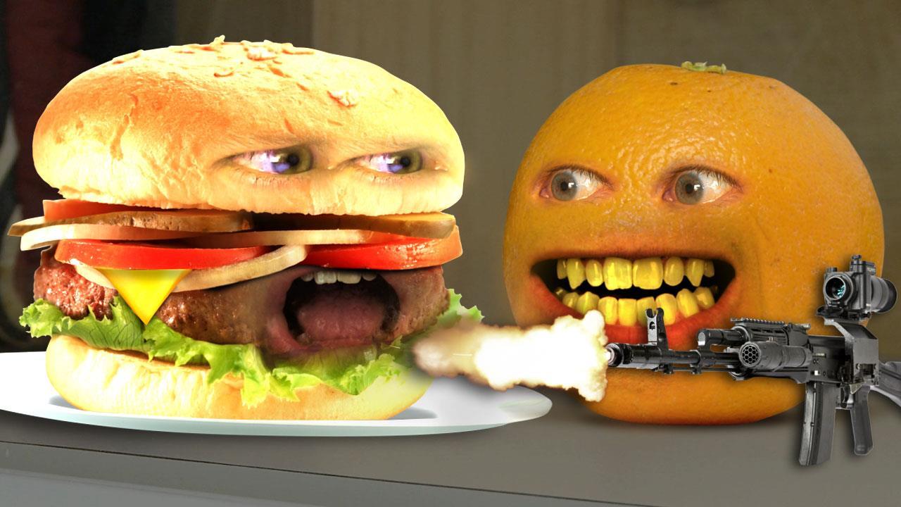 Annoying Orange Monster Burger Annoying Orange Wiki