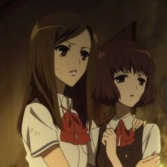 Kyouko and Aki moments before Kyouko's death.