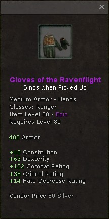 Gloves of the ravenflight