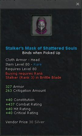 Stalkers mask of shattered souls