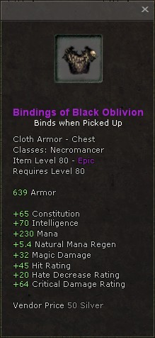 Bindings of black oblivion
