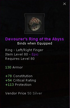 Devourers Ring of the abyss