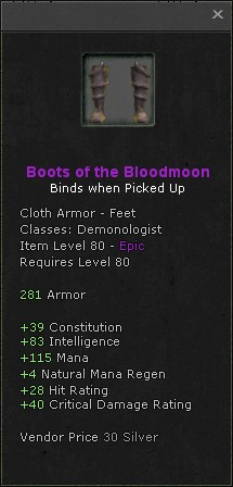 Boots of the bloodmoon