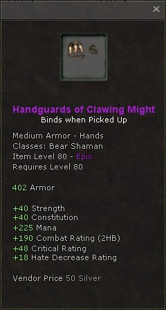 Handguards of clawing might