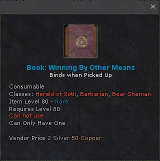 Book winning by other means