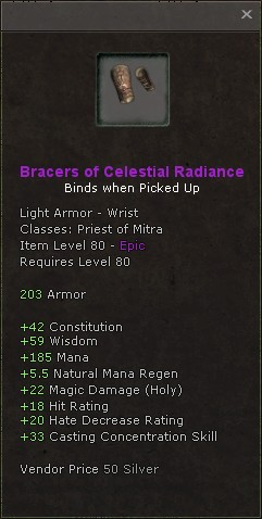 Bracers of celestial radiance