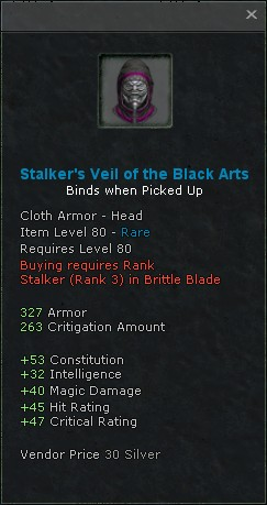 Stalkers veil of the black arts