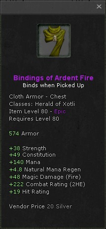 Bindings of ardent fire