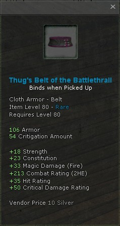Thugs belt of the battlethrall