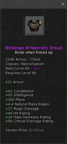 Bindings of necrotic dread