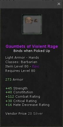 Gauntlets of violent rage