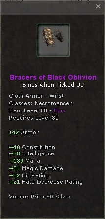 Bracers of black oblivion