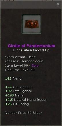 Girdle of pandemonium