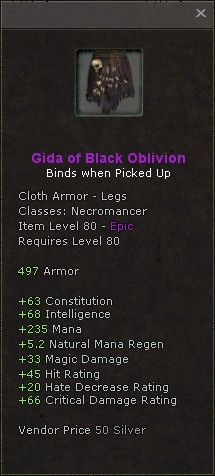 Gida of black oblivion