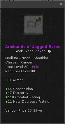 Armbands of jagged barbs