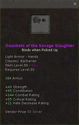 Gauntlets of the savage slaughter