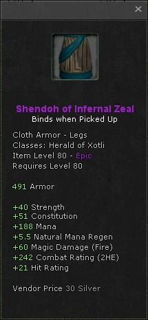 Shendoh of infernal zeal