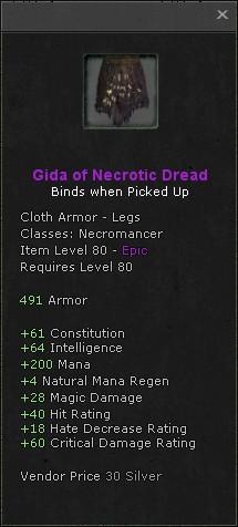 Gida of necrotic dread
