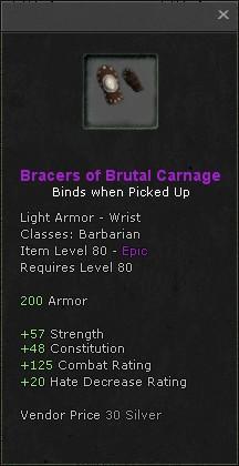Bracers of brutal carnage