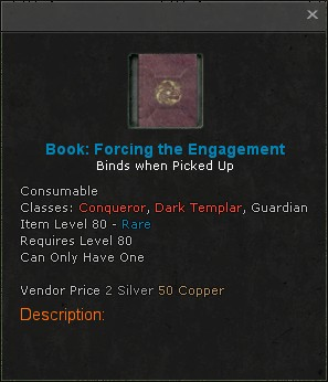 Book forcing the engagement