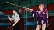 Shura challenges Yukio