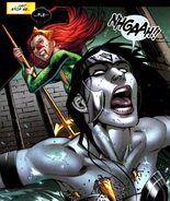 Mera vs Black Lantern Wonder Woman