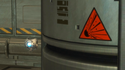 PAL-9001 next to an explosives sign