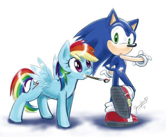 File:5624 - crossover rainbow dash Sonic the Hedgehog.JPG