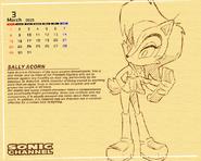 S C Pencil Sally Calendar by E 122 Psi