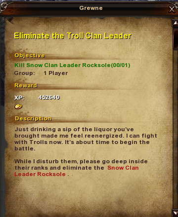 32 Eliminate the Troll Clan Leader