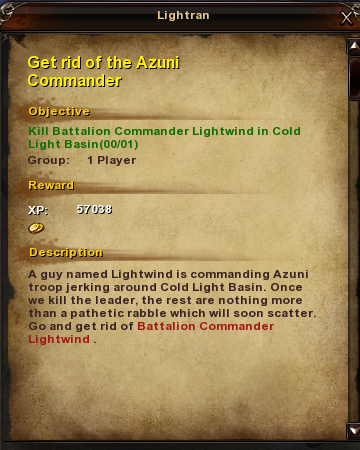123 Get rid of the Azuni Commander